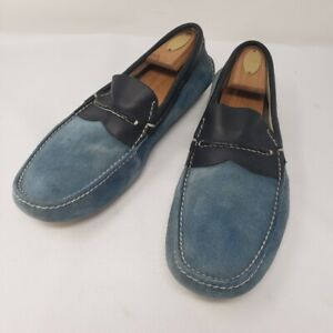 Prada Blue Suede Driving Shoes, Size 7 DD020