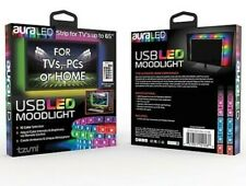 Aura USB LED TV Backlight RGB Strip Light TVs Computer Mood Lighting