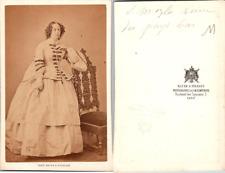 CDV Charles Jacotin, Paris, Sophie de Wurtemberg, Reine de Hollande, circa 1865
