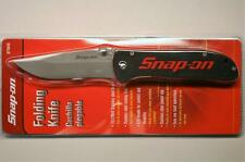 "Snap On Tools 871049 Red Black G10 Handle 3-1/2"" Folding Pocket Knife New"