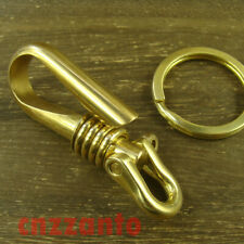 Brass key chain ring Belt pants loop hook clip with locker + U Shackle H573
