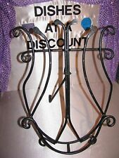 Plate Rack, Plate Stand, Music Lyre Shape, Black, Wrought Iron style, Nice