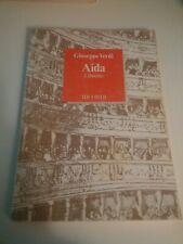 GIUSEPPE VERDI - AIDA - LIBRETTO - RICORDI - 1989