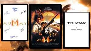 The Mummy Script/Screenplay & Movie Poster And Autographs Signed Print