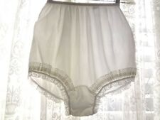 Vintage 60s Silky White  Double Nylon Mushroom Gusset Panties