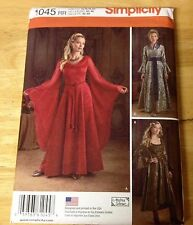 Simplicity MEDIEVAL FANTASY Gowns Costume pattern #1045 Misses Size 14-20 UNCUT
