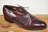 Bostonian Stress Relief Design Burgundy Wingtip Balmoral Size: 9D