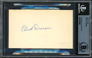 Chuck Dressen Autographed Signed 3x5 Index Card Dodgers Beckett 12410499