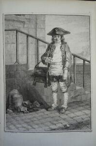 BELLE GRAVURE XVIII° PORTRAIT HOMME ENFANT TRAVAIL VIEUX METIER MODE LOUIS XVI C
