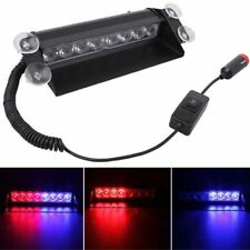 8-LED Red/Blue Car Strobe Light Flash Emergency Police Warning Safety Lamp