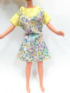 "Doll Clothes fits 9"" Skipper Yellow Flower Dress #608"