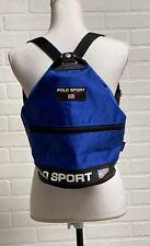 Vintage Polo Sport Bucket Bag Backpack Black 90s Blue Clean!