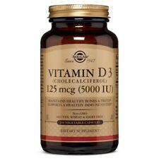 Solgar Vitamin D3 (Cholecalciferol) 5000 IU 240 Vegetable Capsules Made In USA