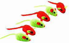 Bliss Cat Toy - Tinsel Mice 6 Pack with Natural Catnip