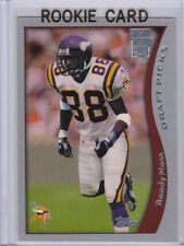 RANDY MOSS 1998 Topps Season Opener SILVER STAMP ROOKIE CARD Football Vikings RC