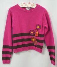 Lilly Pulitzer kids girls sweater pullover knit cotton floral embellished 7 VTG