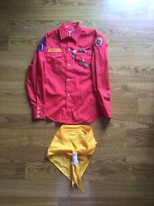 Rare Vtg. Royal Rangers Buckaroos Long Sleeve Uniform Patches Awards  Kerchief