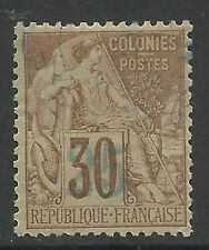 FRENCH COLONIES-NOSSI BE. 1889. 25c on 30 Cinnamon on Drab. SG: 7. Fine Used.