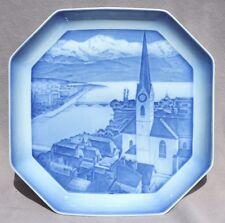 BING & GRONDAHL Octagonal Alphabet Plate 1934-1935 Z=Zurich Switzerland