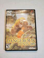 PS2 Cabela's Dangerous Hunts 2009 Video Game Disc Case Manual