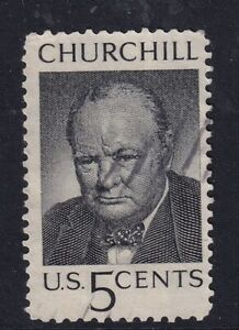 US 13 MAY 1965 WINSTON CHURCHILL COMMEMORATIVE STAMP USED g