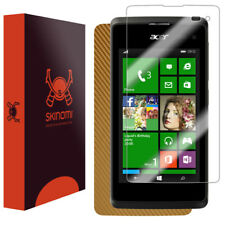 Skinomi Gold Carbon Fiber Skin & Screen Protector for Acer Liquid M220