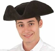 Adult Faux Suede Colonial Tri-Corner Tricorn Pirate Revolutionary Hat Costume