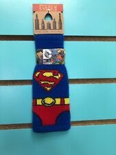 Freaker USA Beverage Insulator Knit Bottle Koozie - SUPER MAN - BRAND NEW ! DC