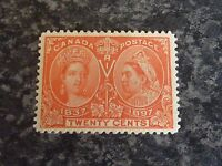 CANADA POSTAGE STAMP SG133 TWENTY CENTS JUBILEE VERMILLION 1897 MOUNTED MINT