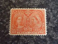 CANADA POSTAGE STAMP SG133 TWENTY CENTS JUBILEE VERMILLION 1897 MOUNTED-MINT