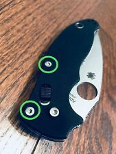 Spyderco Manix 2 CUSTOM Sliver Scale Screws