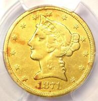 1871-CC Liberty Gold Half Eagle $5 Coin - PCGS VF Details - Rare Carson City!