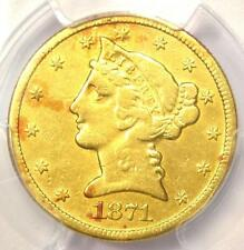 1871-CC Liberty Gold Half Eagle $5 Coin - PCGS VF Details - Rare Carson City!