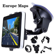 "Nwe 5""4Gb Car Gps Sat Nav Navigation System Fm Poi Free Europe (2016) maps"