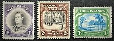 COOK ISL. #112-14 1938 Full Pictorial set #112-13 VLH trace #114 NH All-OG (14-6