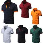 Mens POLO Shirts Short Sleeve Slim Stylish Casual T-shirts Tee Tops Blouses Golf
