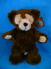 "Disney Hidden Mickey Pre Duffy Chocolate Brown Bear 17"" Plush w/Tags Super-Mint"