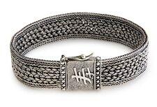 Sterling Silver Bracelet Men's .925 Art Wristband 'Live Long' NOVICA Bali