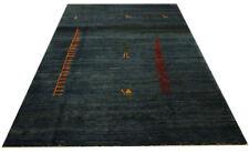 Tapis D'Orient Gabbeh 346x244 cm Noué à la Main 100% Laine Bleu