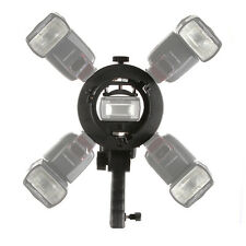 5in1 S shape Bowens Mount Flash Bracket Holder for Softbox Speedlite Snoot New