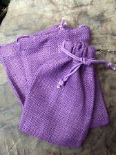 Burlap Drawstring Favor Gift Bags Dark Lavender, Purple 5x7 - Pack of 8