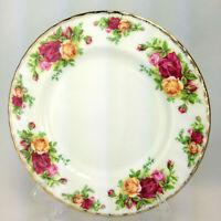 "Royal Albert Old Country Roses Salad Dessert Plate 8"" Gold Trim"