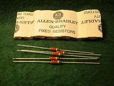(1) 5 Pack Allen Bradley Carbon Comp 1.2K OHM 1/2 Watt 5% Resistors NOS