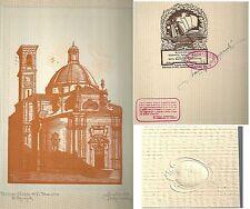 1928 TORINO CHIESA DI SAN TOMMASO ACQUALAGNA  Xilografia M. Alessandri numerata