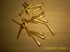 "Twenty of 4 x 1"" Brass Slotted Round Head Wood Screws"