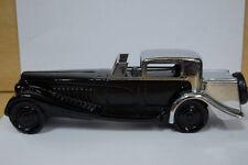 Avon Bugatti '27 Car Decanter w/ Wild Country Cologne Black Glass Car Bottle