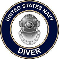 """Navy Diver ND 5.5"""" Die Cut Sticker / Decal 'Officially Licensed'"""