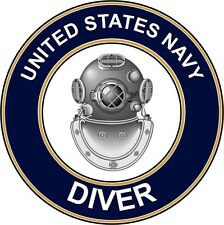 "Navy Diver Nd 5.5"" Die Cut Sticker / Decal 'Officially Licensed'"
