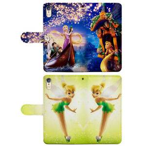 Tinker Bell Tangled Rapunzel Flip Wallet Phone Cover fit for iPhone & Samsung