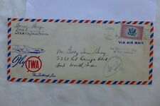 1939 Fly TWA  Lindbergh Line Cachet & Scott CE2 16c Airmail Special Delivery